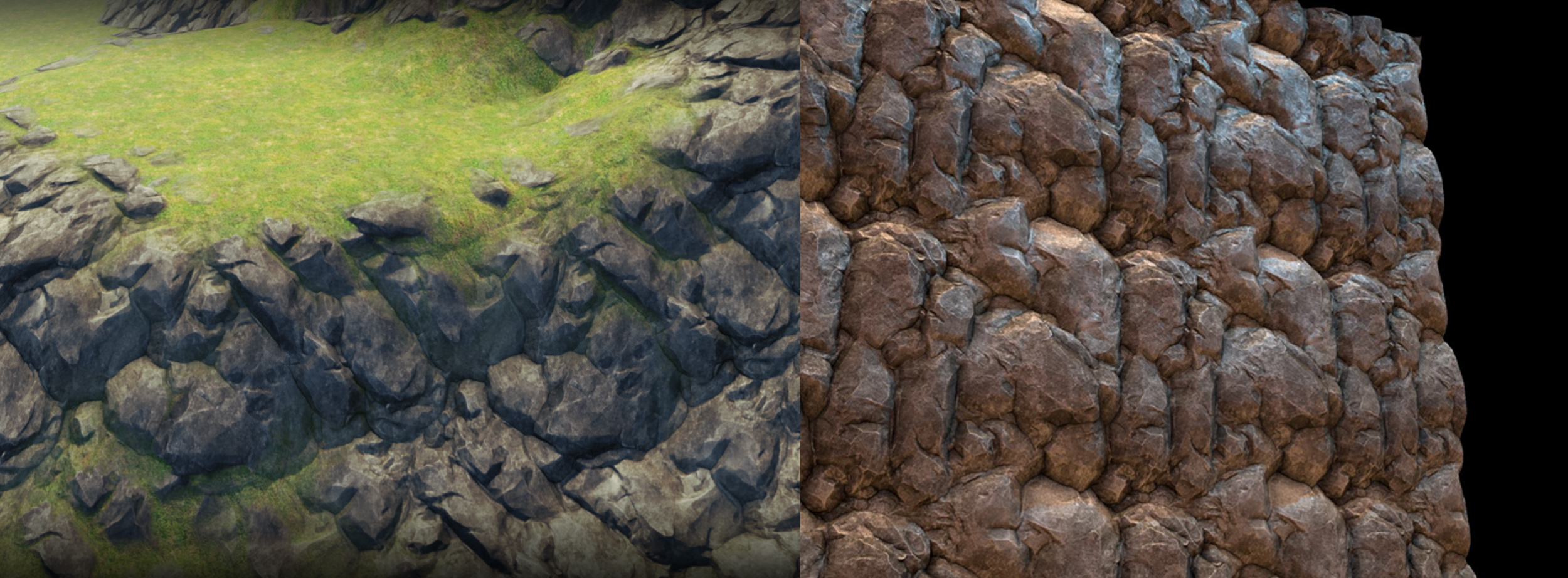 how to draw rock texture